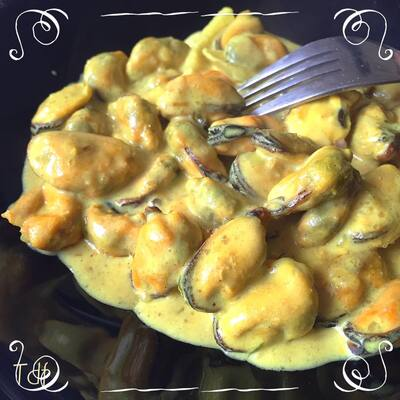 Recette simple et rapide de moules au curry