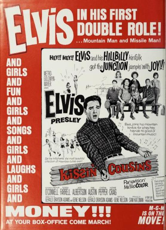 KISSIN COUSINS BOX OFFICE USA 1964