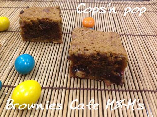 Brownies Café et M&M's
