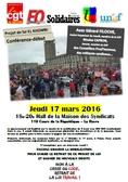 Contre la loi El Khomri : poursuivre et amplifier la mobilisation !