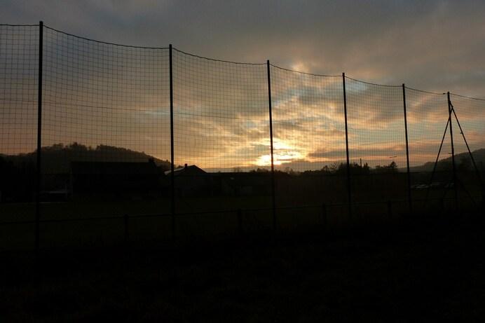 Le ciel hier après-midi