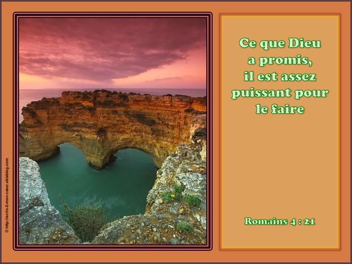 Ce que Dieu a promis, il est assez puissant pour le faire - Romains 4 : 21