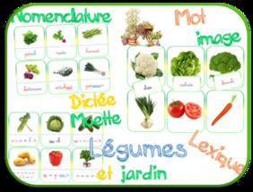 Les légumes : nomenclature-mots et images-dictées muettes