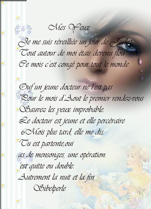Mes Yeux poème