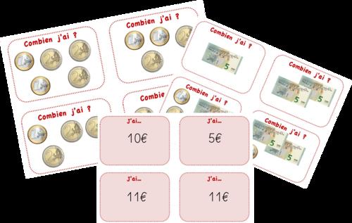 Ateliers - Jeux sur la monnaie CP