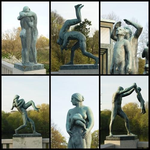 Les sculptures du parc Vigeland à Oslo