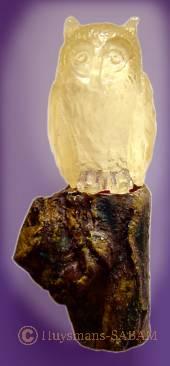 Miniature animalière lumineuse Hibou - Arts et sculpture: sculpteur, artisan d'art