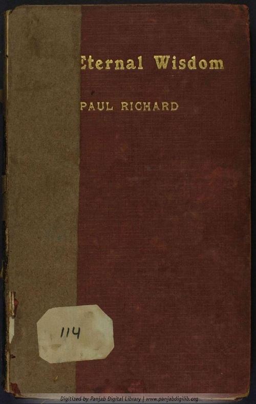 Paul Richard - The Eternal Wisdom Vol. I (1922)