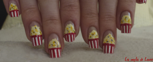 Nail Art pop corn