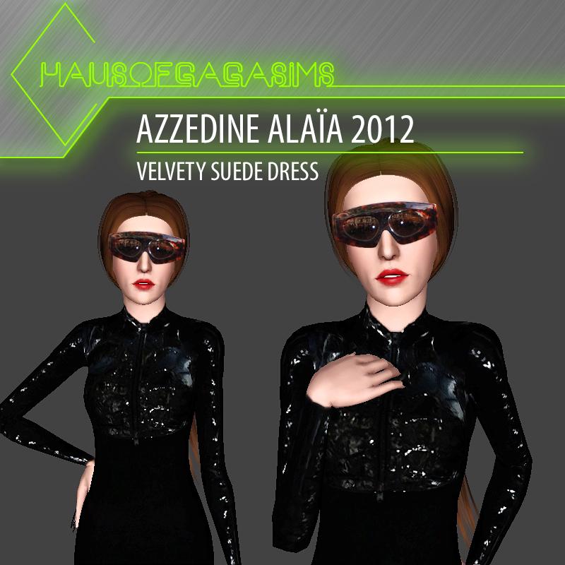 AZZEDINE ALAÏA 2012 VELVETY SUEDE DRESS