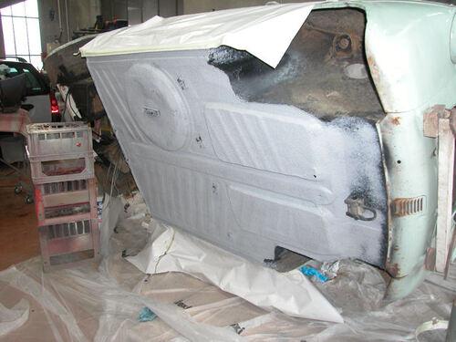 Restauration Vespa 400 bleue