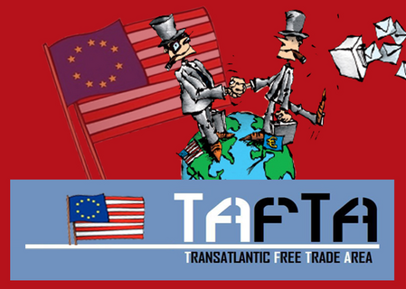 affiche contre l'accord TAFTA