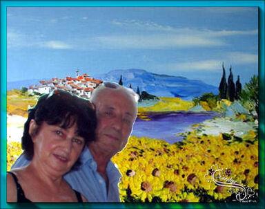 A nous deux les vieux mariés écrit en octobre 2014