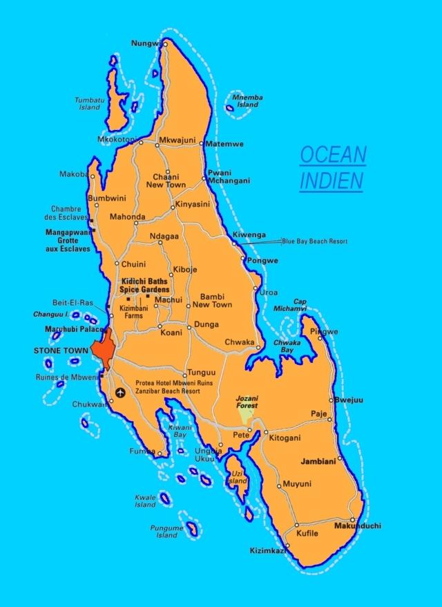 ou se trouve zanzibar sur une carte - Photo