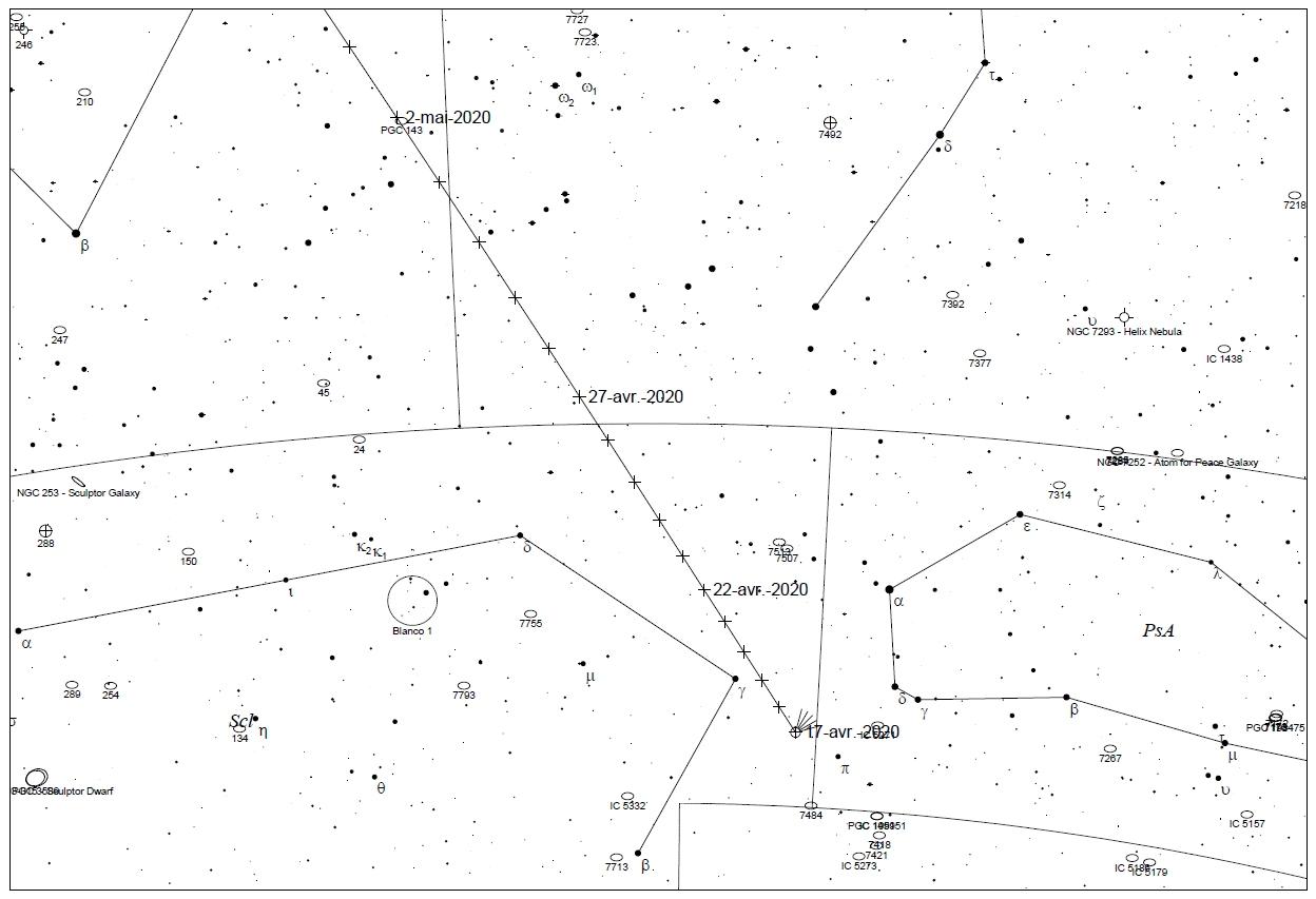 C/2020 F8 SWAN map