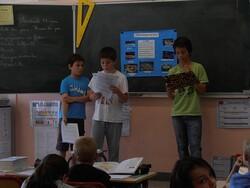 Présentation des exposés dans les autres classes !
