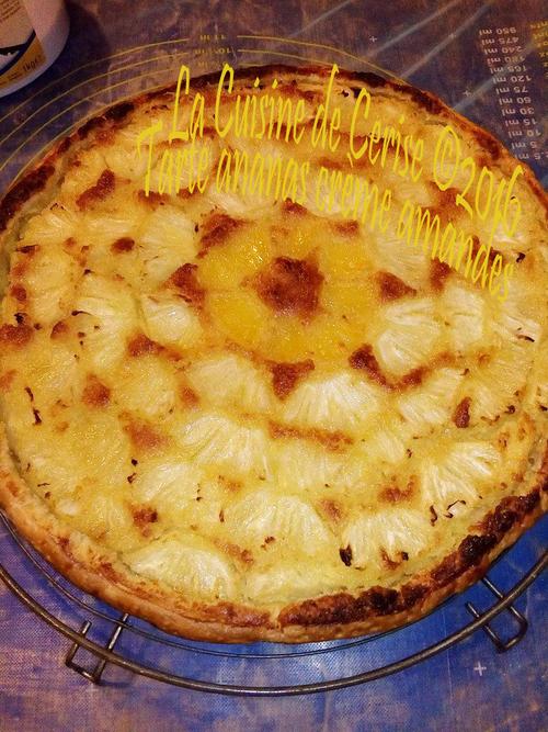 Tarte ananas crème amandes