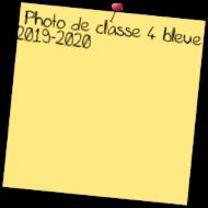 Photo de classe 4 bleue 2019-2020