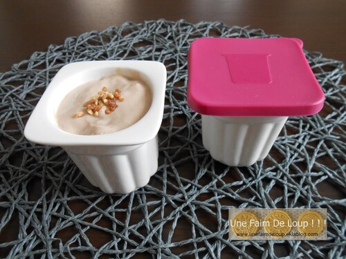 Crème dessert au praliné