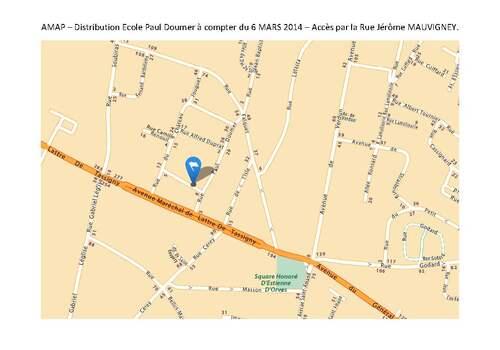 ATTENTION Nouveau lieu de distribution et nouveaux horaires   après le 6 mars