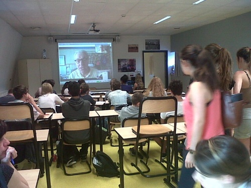 A wonderful Skype Session with Todd Strasser.