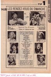 28 décembre 1975 / LES RENDEZ-VOUS DU DIMANCHE.