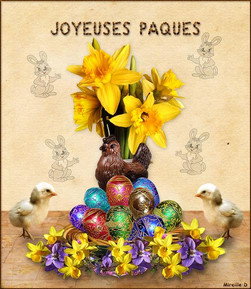 Joyeuses Pâques! (Carte Montage)
