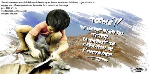 dessin de JERC du mardi 12 mai 2015 caricature enfant esclave
