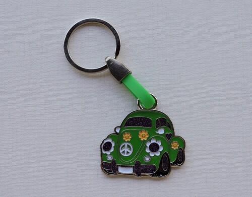 Porte-clés Coccinelle métal coloré