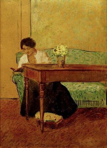08 - Femmes lisant- Peintures 20eme jusqu'à aujourd'hui