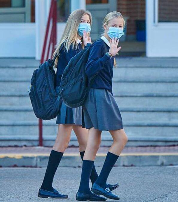 Reprise de l'école pour Leonor et Sofia d'Espagne
