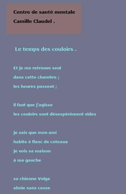 Le temps des couloirs .. Texte de Joel Georges .