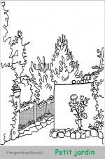 Coloriage petit jardin