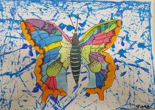 les papillons à l'encre