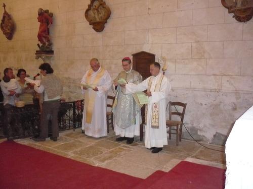 Messe présidée par Mgr CAMIADE  à Dégagnazes