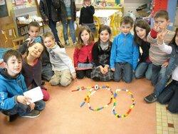 GS, CP, CE1 ont fêté le 100ème jour d'école