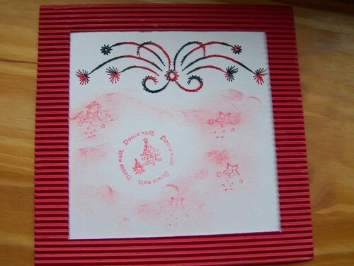 Quelques cartes brodées pour Noël