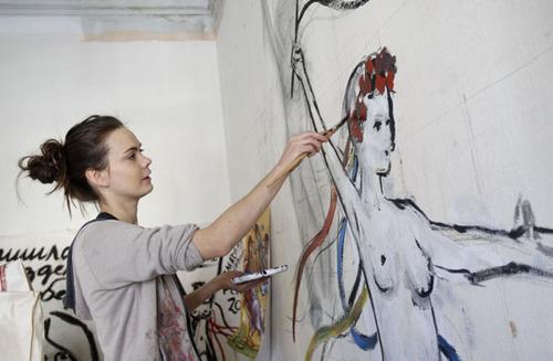 Oksana Shachko, ukrainienne, fondatrice des FEMEN  , révolutionne l'art de l'Icone