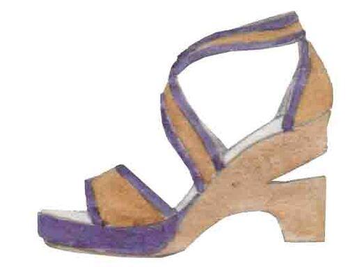 wedges, sandales compensées