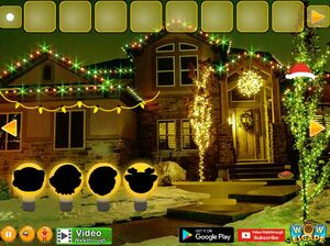 Jouer à Christmas lights street escape
