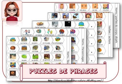 puzzles de phrases cycle 2