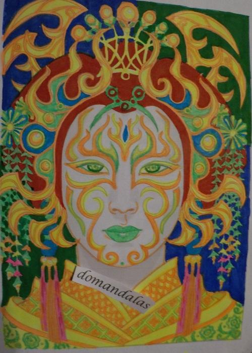 DOMANDALAS  coloriage magical beauties tome 1 court diviner Cristina Mcallistair