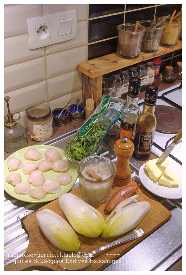 Coquilles St Jacques endives au balsamique