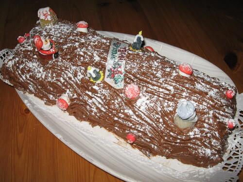 Bûche au Chocolat Meringuée