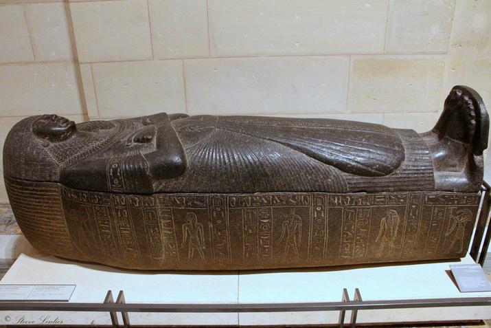 Nouvel Empire, XIXe dynastie, couvercle du sarcophage du grand intendant Djéhoutyhétep