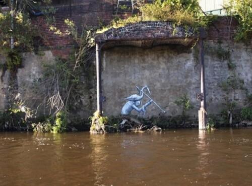 Phlegm pêcheur street-art