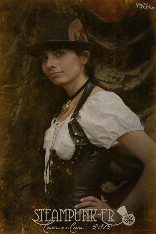 Carnet de souvenirs: Steampunk-fr.com, le stand photo de Phylida !