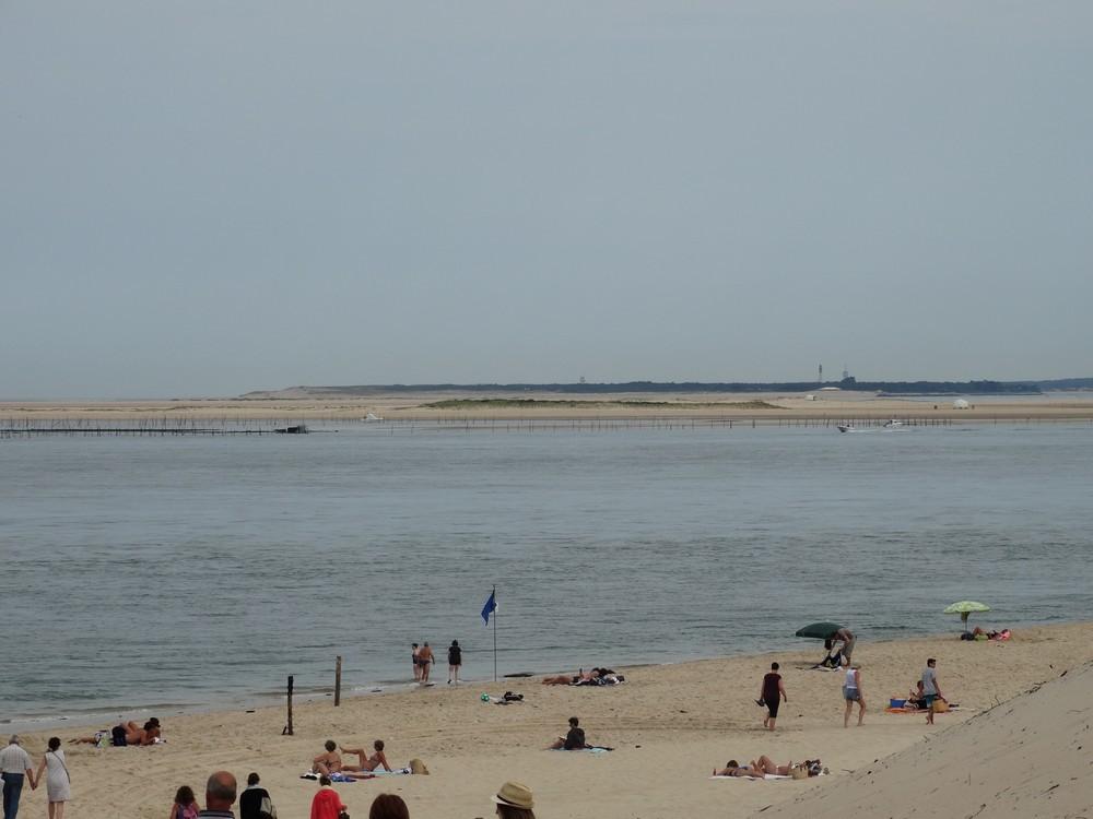 La plage du Petit-Nice sur le Bassin d'Arcachon...
