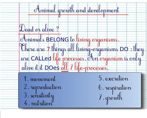 CM2SC - Living Creatures: 7 life-processes