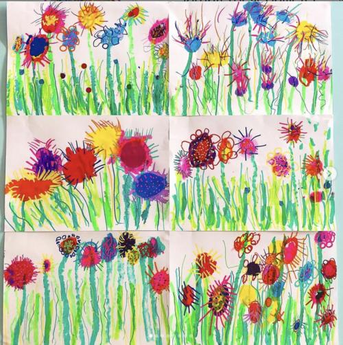Fleurs et graphismes